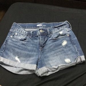 TWO PAIRS OF OLD NAVY DISTRESSED BOYFRIEND SHORTS